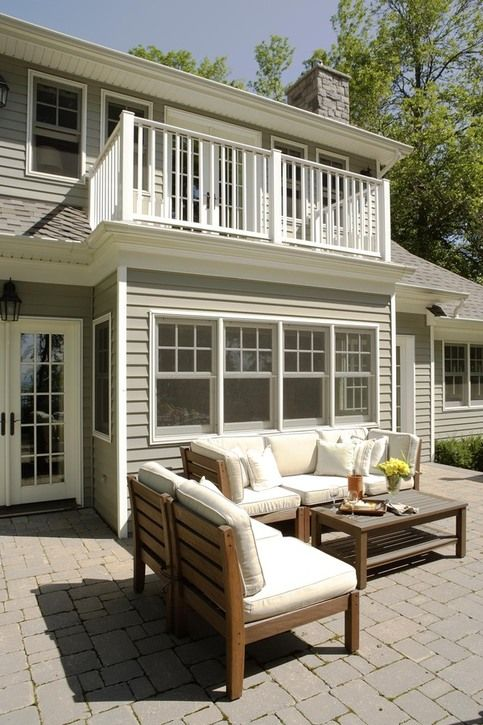 exterior window style    Cottage on Lake Erie by Tim McGhie, via Behance