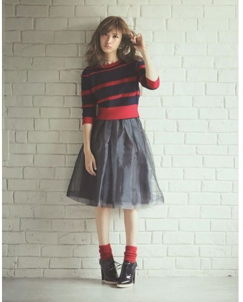 ミディオーガンスカート/リランド/リランドチュール(Rirandture)/ Midi Skirts ミモレ丈スカート Editor's Picks on ShopStyle