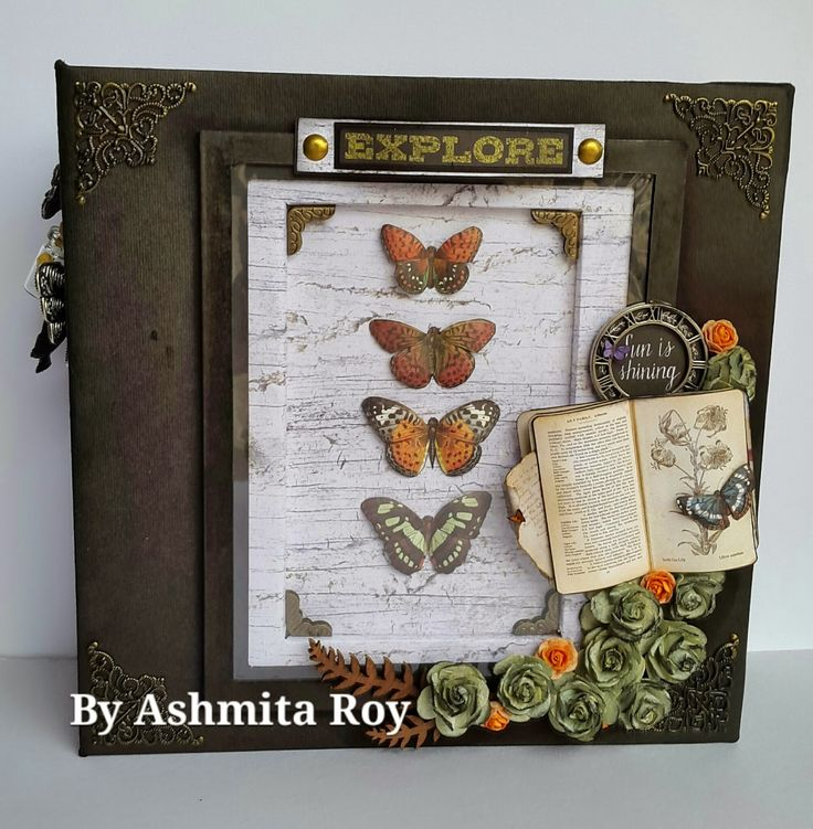 Jan 2015 Prima Forever Green by Ashmita Roy - Mini album with interactive pages, flip, flaps, pockets, tags and photo mats- will simply take your breath away...