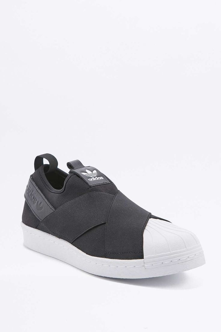 adidas Originals Superstar Black Slip-On Trainers - Urban Outfitters