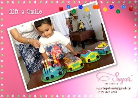 Our little patron defines #giftasmile! Light up your little one's facewith a treat just from Sugar! #sugarthepatisserie #happyclients #clientdiaries #littleones #meltourhearts