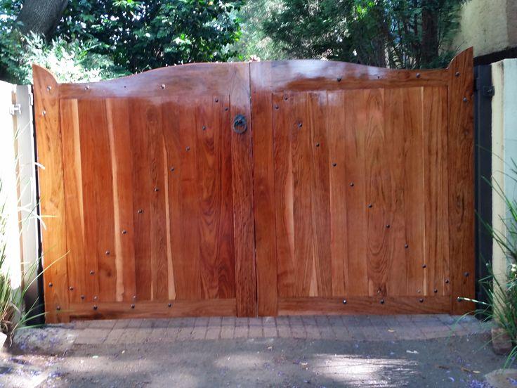 Pair of Teak driveway gates