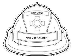 Wearable fireman hat printable.   Fireman hat, Fire safety ...