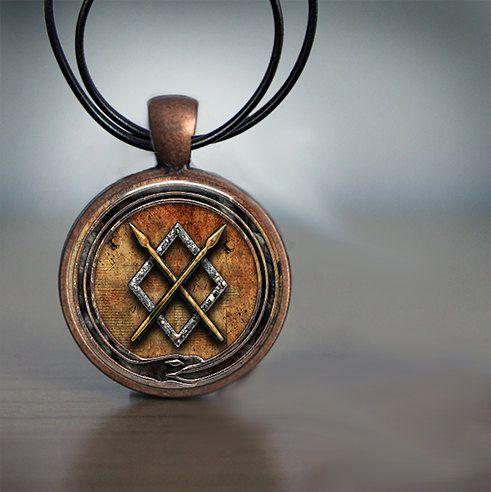 Gungnir Odins Spear Symbol Pendant In by DiPillasCraftsCorner