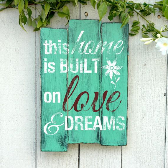 Beach Home Wooden Wall Art Sign - Rustic Hand Crafted Wood Pallet