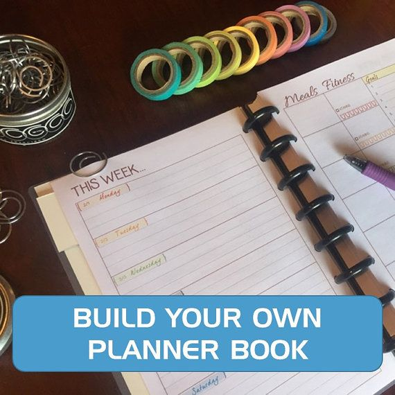 Build your own planner book - custom planner just for you