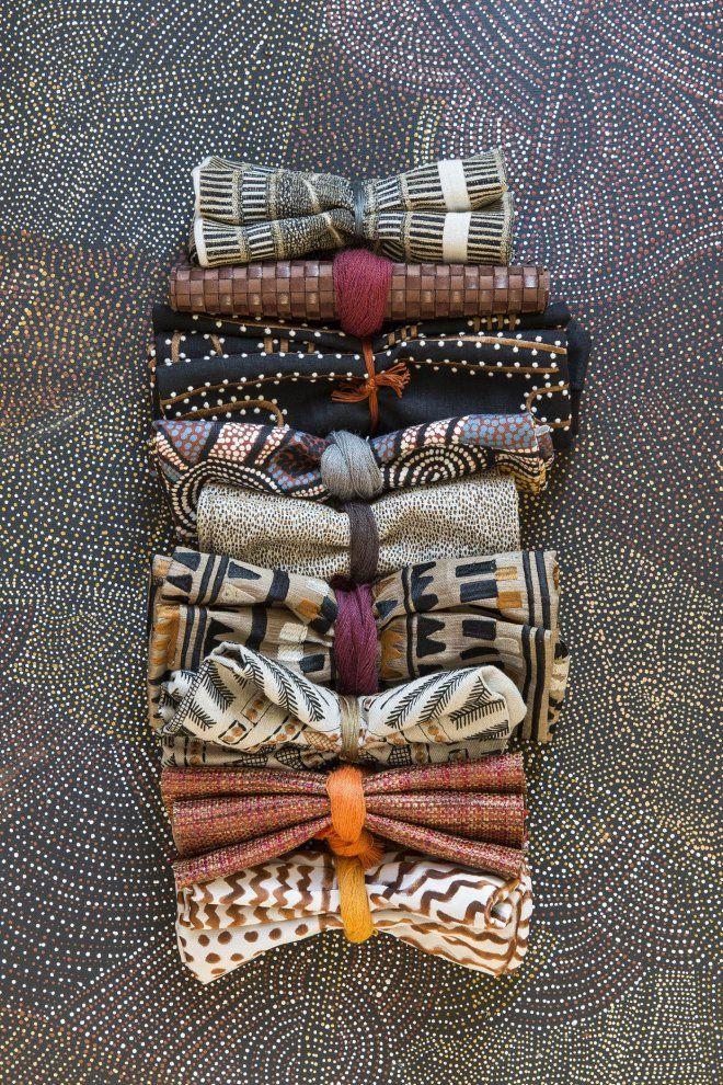 Tissus Pierre Frey, collection Origines inspirée de l'art aborigène.