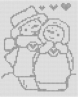 Snowman in Love Crochet Afghan Pattern Copyright Tina Gibbons http://www.superlativestitchery.com/seasonalcrochetpatterns.html