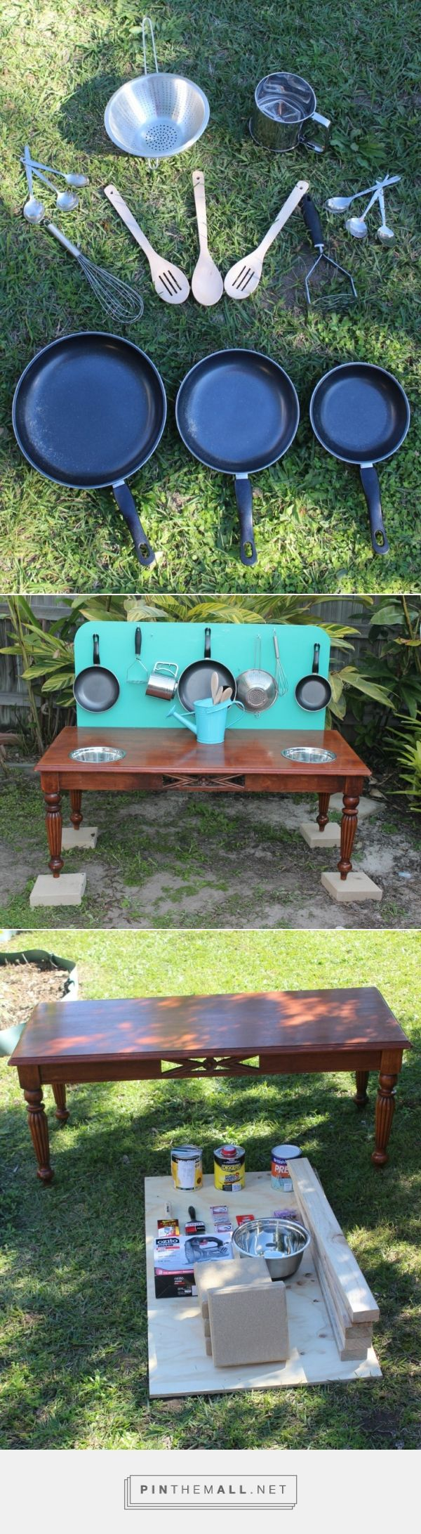 Mud kitchen upcycled pallet mud kitchen pallet kitchen counter with - Making A Mud Kitchen For Kids