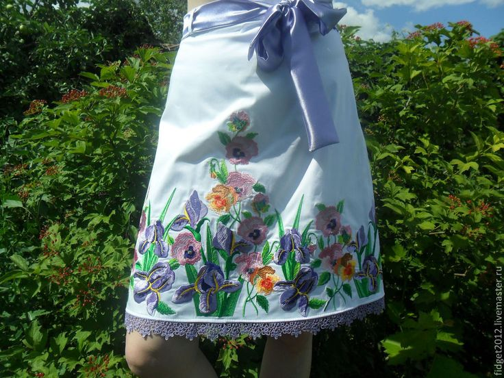 "Вышитая юбка""Цветы из радуги"" - юбка,вышитая юбка,вышивка на юбке,яркая юбка"