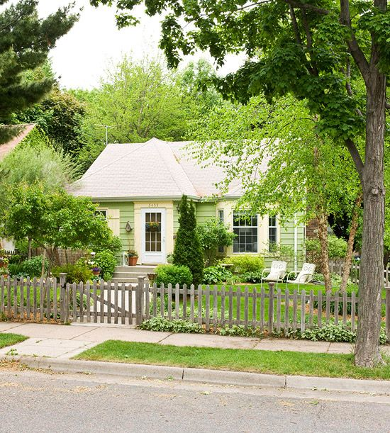 Decoration Adorable Front Gardens Designs Engaging Front: Decorating With Handmade Cottage Charm