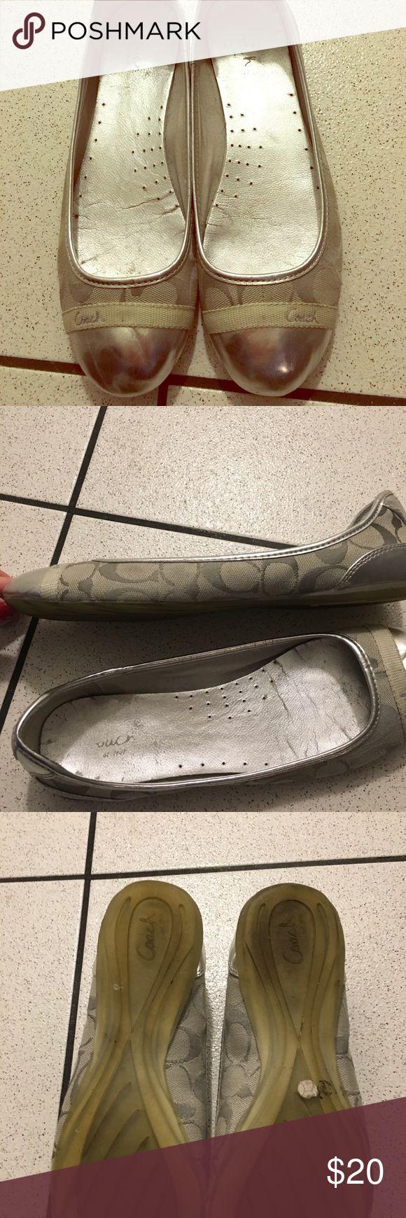 Coach flats Grey Coach flats. Normal wear & tear. Smoke free pet free home. Coach Shoes Flats & Loafers