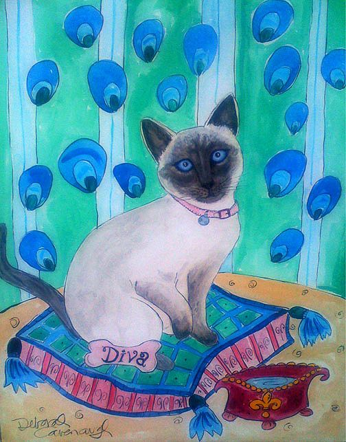 I won't lie...this little diva cat had it made.  She gave and got a lotta love.  More info at http://www.DeborahCavenaugh.com
