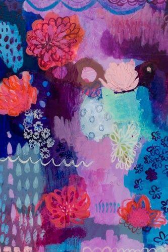 Flowers on Descent Canvas Reproduction