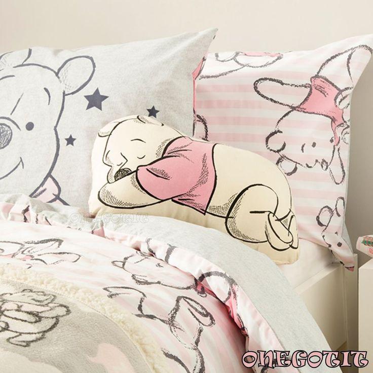 Disney Winnie de Pooh Size Single Double Duvet Cover Set Primark Bedding Cushion