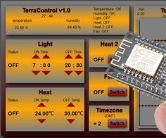 TerraControl v1.0 - with NodeMCU webserver