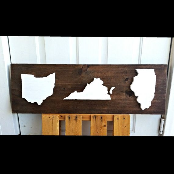 Custom State Sign State Signs Home Sign Custom Wood by KaysDekor