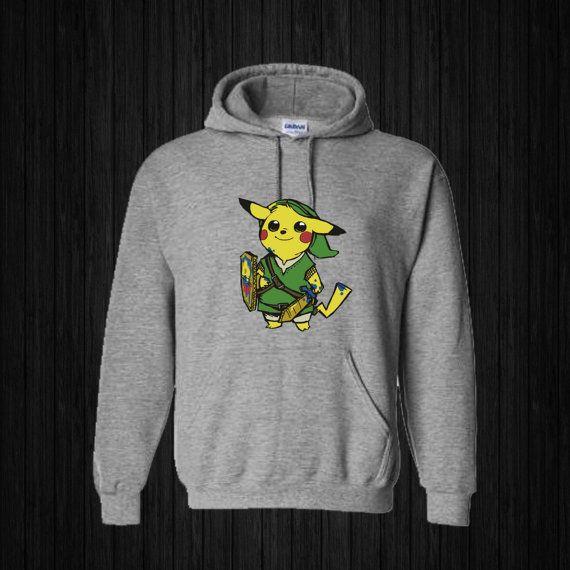 Zelda Pokemon Hoodies Hoodie Sweatshirt Sweater by sijilbab13