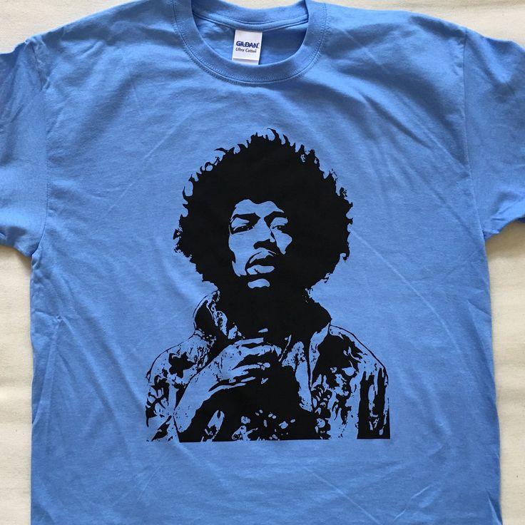Jimi on Carolina Blue #jimi #hendrix #jimihendrix #tshirts