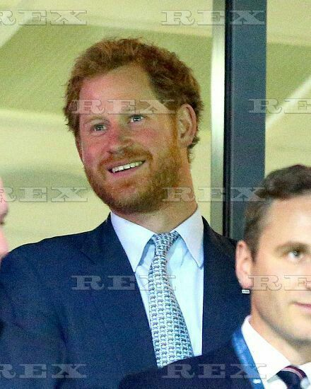 IRB Rugby World Cup 2015 Pool Stage Pool C Namibia v Georgia Sandy Park, Sandy Park Way, Exeter, United Kingdom - 7 Oct 2015 Prince Harry smiles during the IRB Rugby World Cup 2015 Pool C Match between Namibia and Georgia played at Sandy Park, Exeter on October 7th 2015 7 Oct 2015
