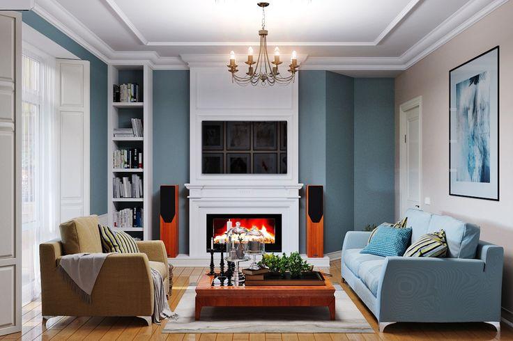 Изящная мягкая мебель, уютный текстиль и тепло камина совершенно не обязательно должны быть атрибутами исключительно просторных гостиных. Современные технологии строительства и новейшие отделочные материалы позволяют создать оригинальный дизайн для помещения любых размеров. Подберите светлые обои с неброским рисунком, установите глянцевый натяжной потолок, который зрительно сделает комнату выше, и правильную систему освещения – и ваша гостиная …