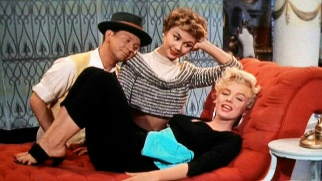 """Donald O'Connor, Mitzi Gaynor, and Marilyn Monroe in """"There's No Business Like Show Business."""""""