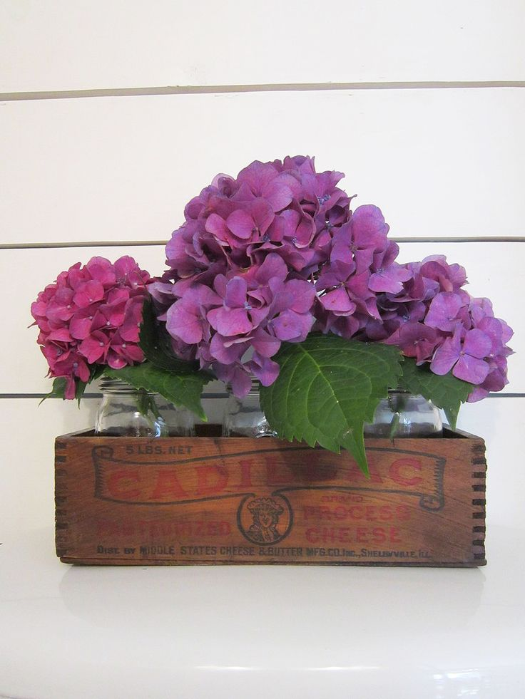 Rustic flower box and tiny half bath makeover