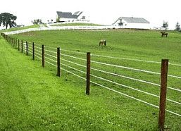 High tensile fencing 3 for cattle 5 for horse pastures