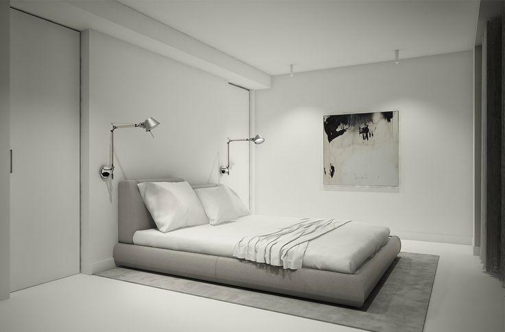 PULVA, minimalistic, interior design, minimal, modern, materials, home, homestyle, house, dom, light, details, texture, white, pure, black, bedroom