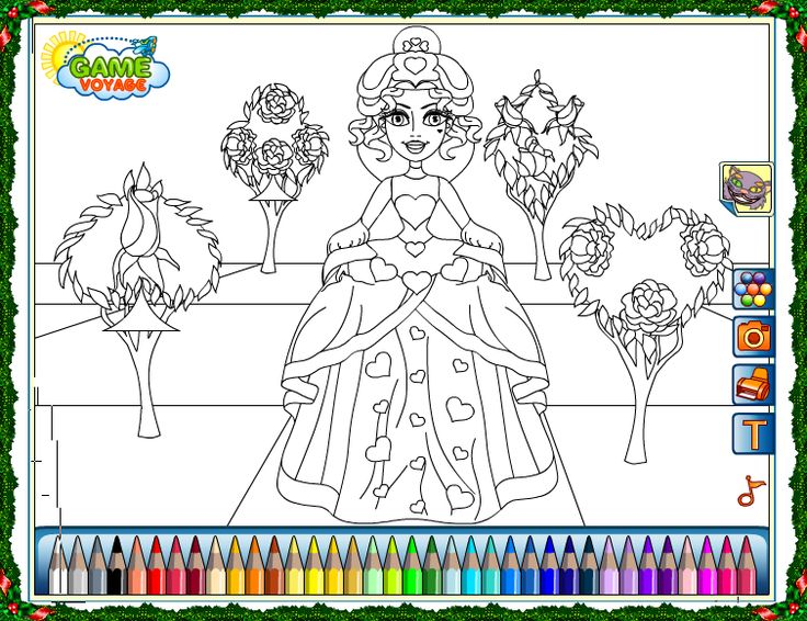 """The Red Queen Coloring Game. HOW TO PLAY Mouse: select the color and then clicking on the place you want to paint  PRINT: once completed your work, click with the right mouse and select """"save as"""" open your file and send for printing"""