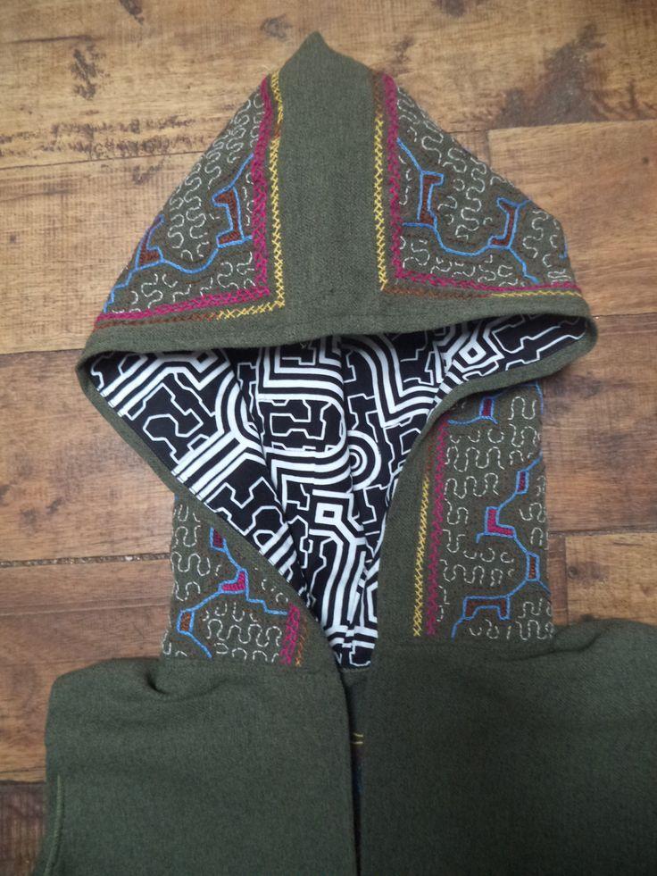 Shakruna Songs, Cowl hooded  waistcoat Burning Man/Chakana/Steam punk/Tribal/woodland/psycadellic by Shakruna on Etsy