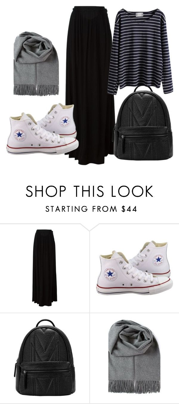 """hijab day"" by azranumanovic ❤ liked on Polyvore featuring Just Cavalli and Converse                                                                                                                                                                                 More"