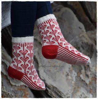 Hjerter på snor, sokker