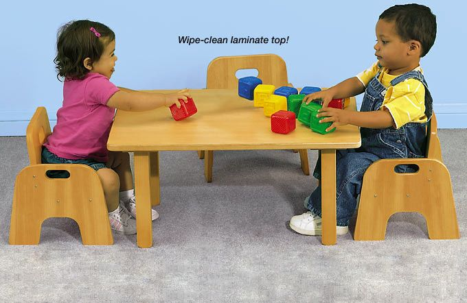 Classic Birch Easy Clean Toddler Table 14 Quot Our Infants
