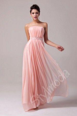 Společenské šaty dlouhé růžové CL6008