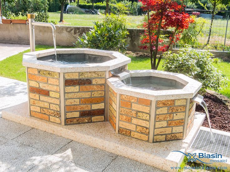 Vasche Vasi | Mosaici Biasin: mosaico, mosaici, arredo giardino, arredamento giardino, barbecue, lavelli, arredamento da esterno, cucina in muratura