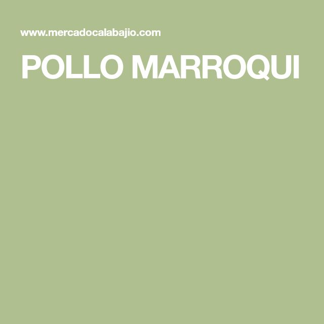 POLLO MARROQUI