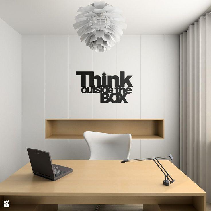 DekoSign NAPIS NA ŚCIANĘ THINK OUTSIDE THE BOX czarny - zdjęcie od Mante&Co DESIGN