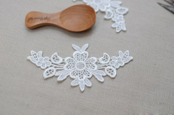 2 Venice Ivory Lace Applique For Necklace / by LaceDecoration