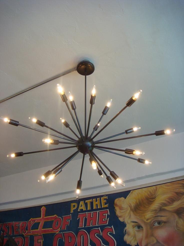 Oil Rubbed Bronze Sputnik Starburst Light Fixture Chandelier Large Filament Bulb   eBay-- interesting