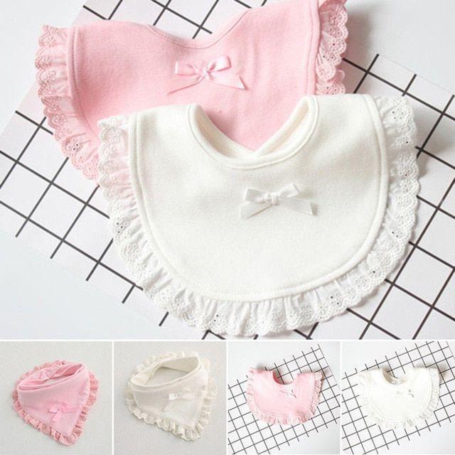 Newborn Toddler Cotton Baby Bibs Boy Girl Saliva Towel Kids Bib Feed-JT