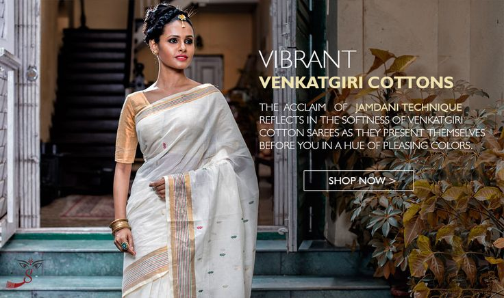 The pride of #AndhraPradesh, the famous weave from the Nellore district of the state, the fine weaving of #Venkatgirisarees backdates to the early 1700's when these #sarees were produced at an artisan cluster close to Nellore then known as 'Kali Mili'.