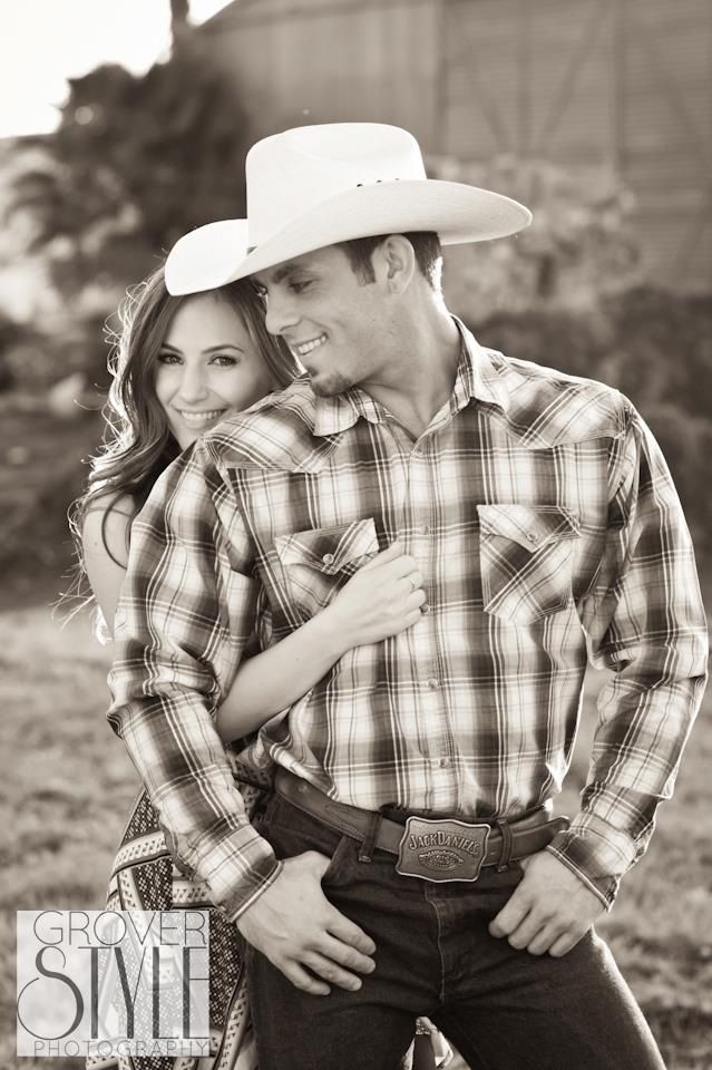 Engagement photo, like the pose, but will not dress mike like a cowboy, although it would be funny