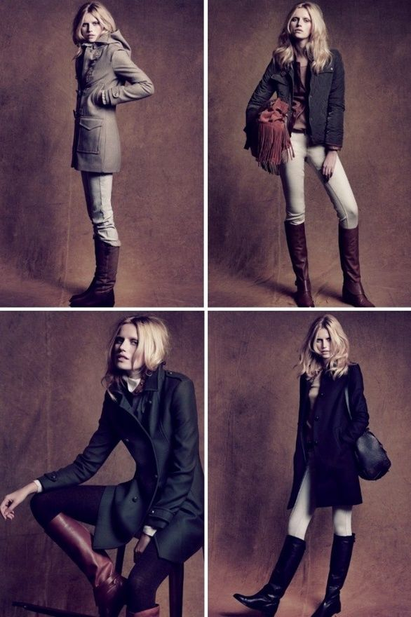Its fall. That means women in layers and riding boots. So flyy.