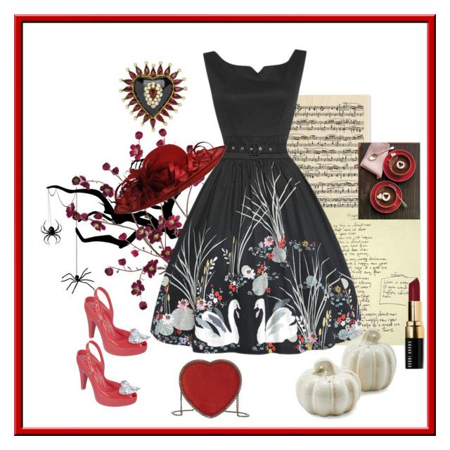 """""""Lindy bop dress 💋"""" by christina-63 on Polyvore featuring Cost Plus World Market, Vivienne Westwood Anglomania + Melissa, Chanel, Bobbi Brown Cosmetics, STELLA McCARTNEY and Sur La Table"""