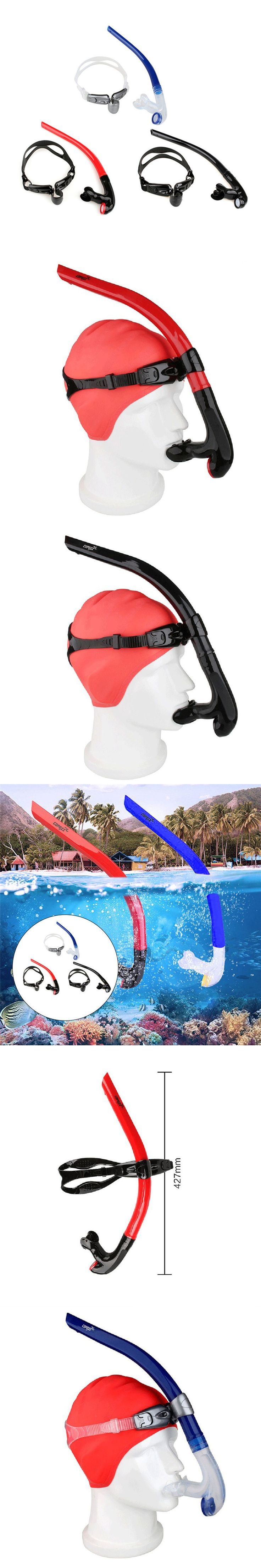 COPOZZ Front Swimming Breathing Tube Swimming Water Sports Equipments Dry Snorkel Tube Underwater Diving Snorkeling Accessories