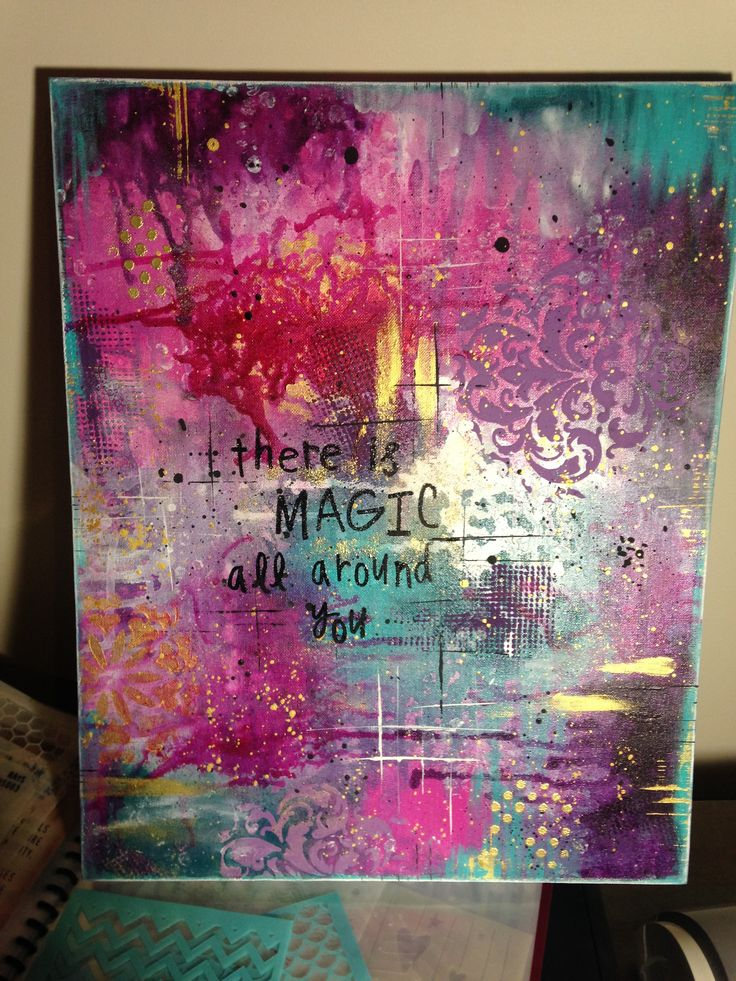 "Mixed media art - one of the ""magicals"" there is magic all around you. My favourite creation"