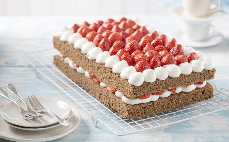 jahodovo smetanovy dort