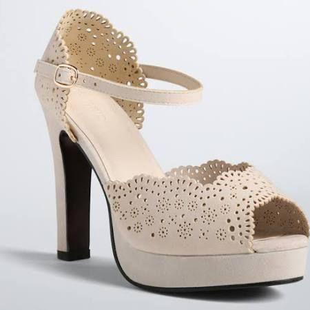 Perforated Peep Toe Platform Heels (Wide Width) - Torrid