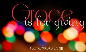Where Grace Begins: Week 1 of Grace Is For Giving is UP. Includes blogger linkup